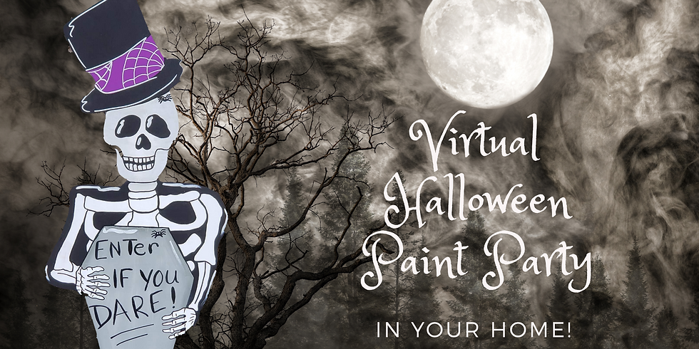 Virtual Halloween Paint Party