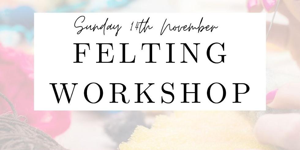 Wet Felted Picture Workshop  November 2021