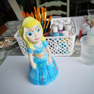 Pottery Princess by young customer