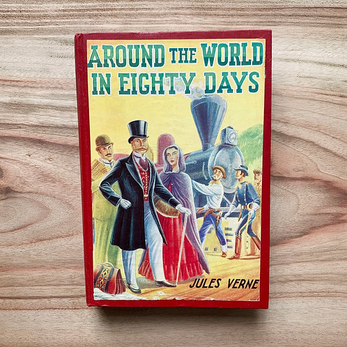 Around the World in Eighty Days- Folding Book Lamp