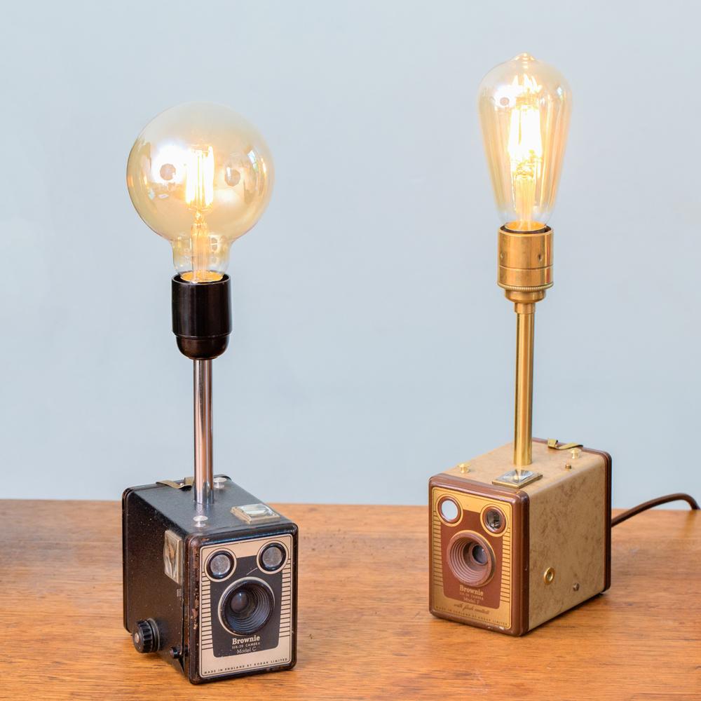 Brownie Box Camera Lamps