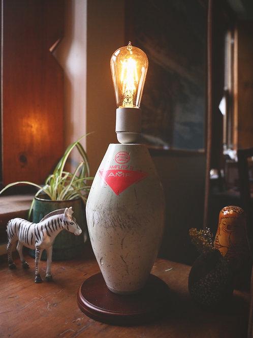 Reclaimed Bowling Pin Lamp