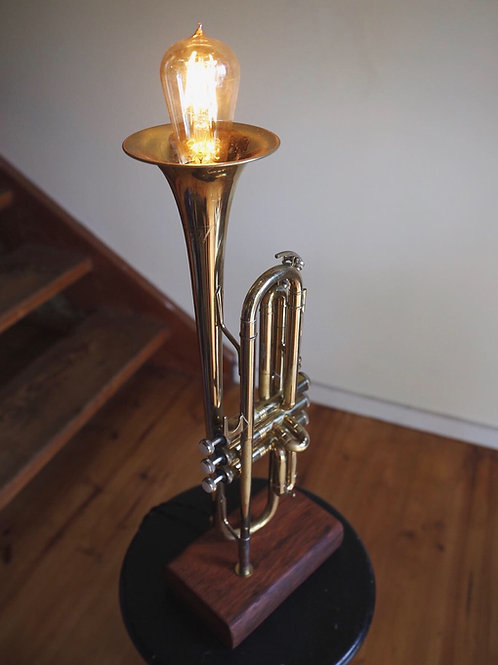Brass Trumpet Lamp