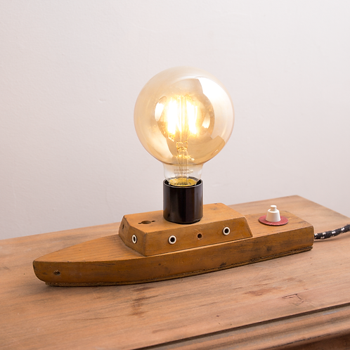 Hand Crafted Timber Boat Lamp
