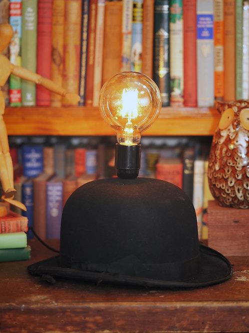 Vintage Bowlers Hat Lamp - 'The Ideas Hat'