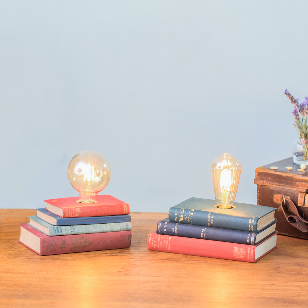 Book Stack Lamps