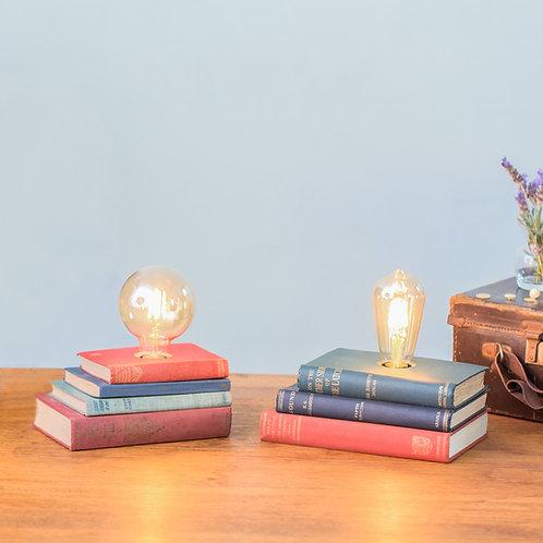 Vintage Book Stack Lamp
