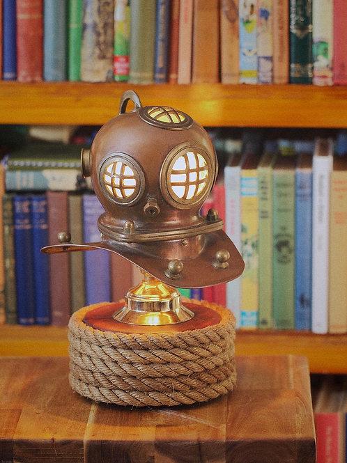 Nautical Scuba Diving Helmet - Copper and Brass