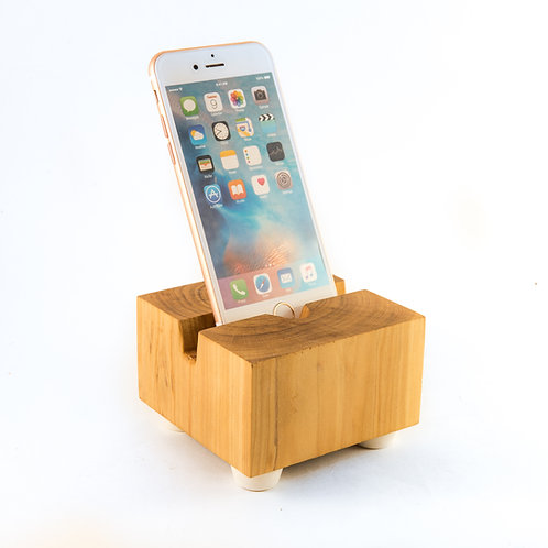 Wood Block Phone Dock