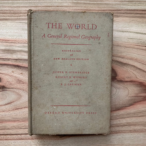 The World - A General Regional Geography - Folding Book Lamp