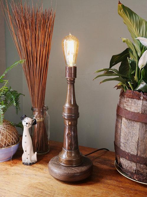 Repurposed Brass & Copper Firehose Nozzle Lamp