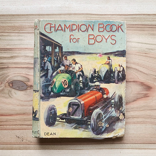 Champion Book For Boys - Folding Book Lamp