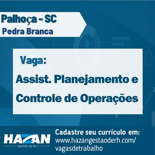 Assistente de Planejamento e Controle de Operações
