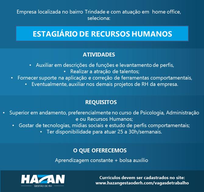 Estagiário de Recursos Humanos