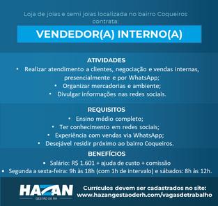 Vendedor(a) Interno(a)