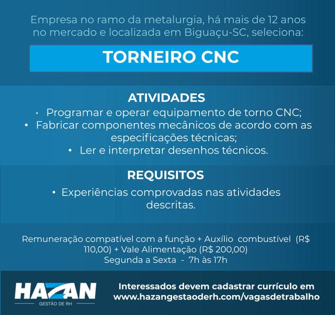 Torneiro CNC