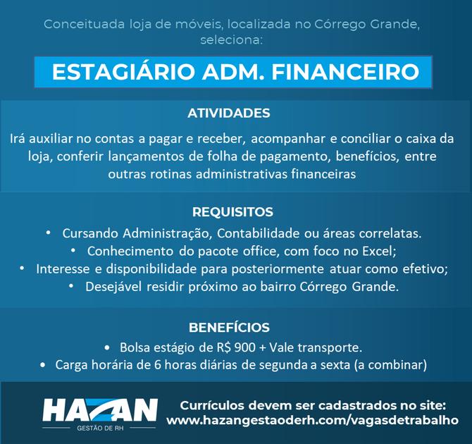 Estagiário Adm. Financeiro