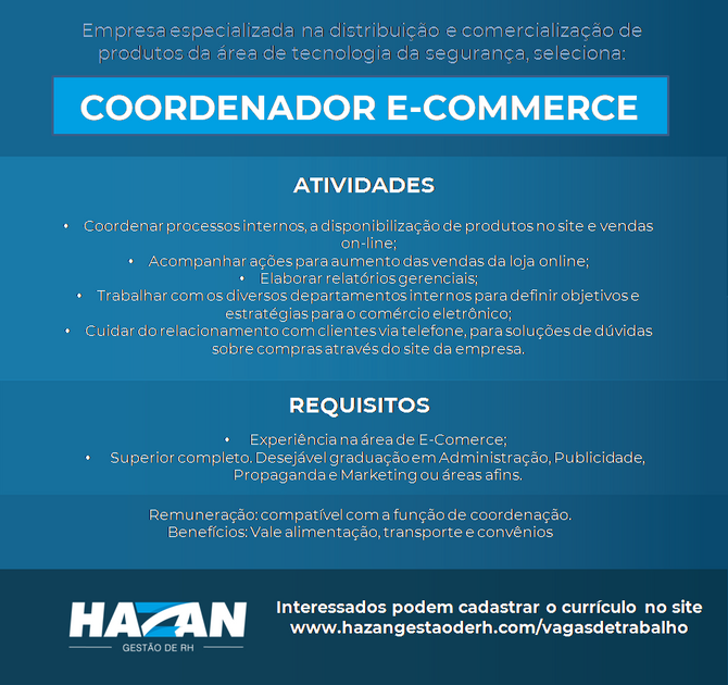 Coordenador de E-commerce