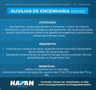 Auxiliar de Engenharia (Obras)