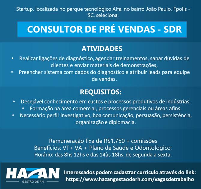 Consultor de Pré Vendas - SDR