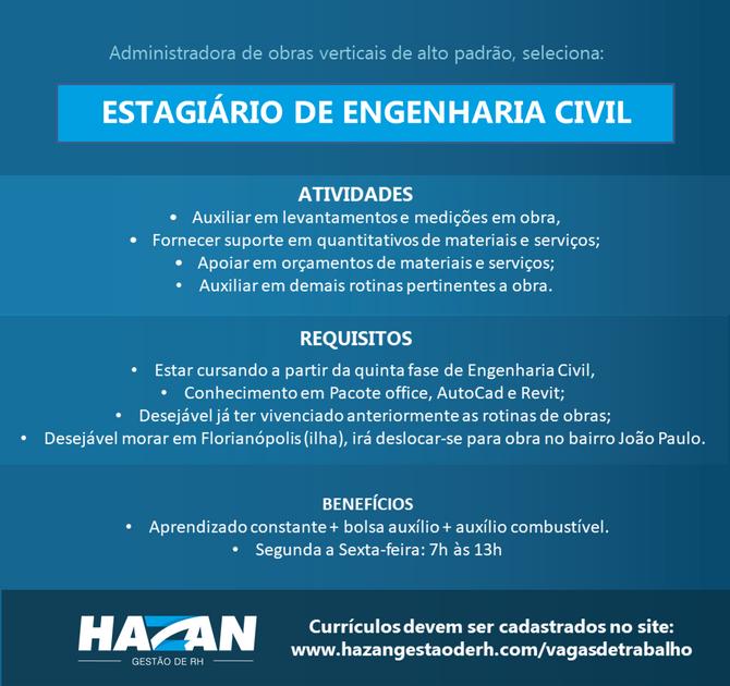 Estagiário de Engenharia Civil