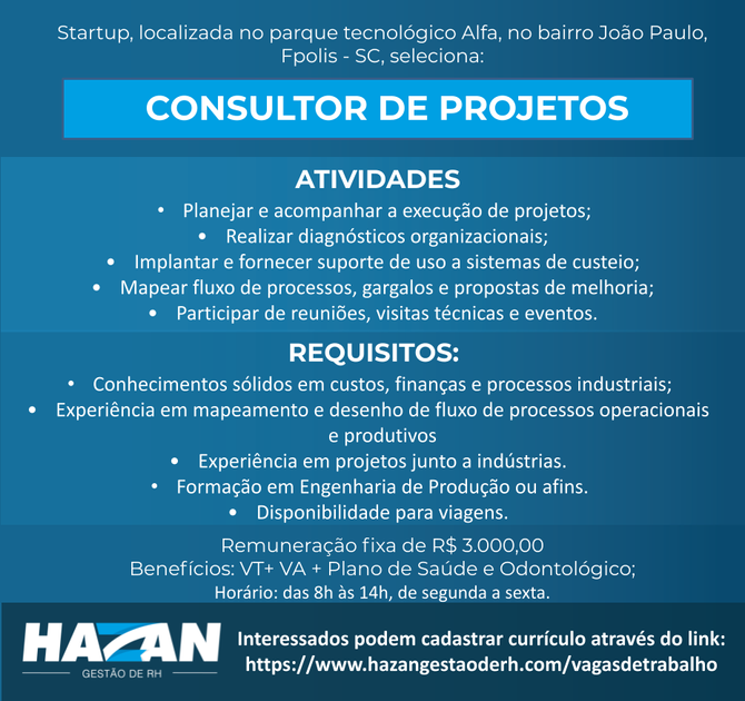 Consultor de Projetos