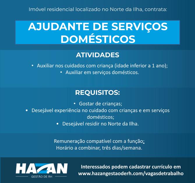 Ajudante de Serviços Domésticos