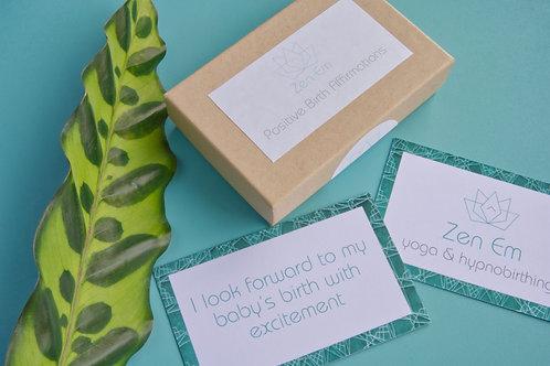 Zen Birth Affirmation Cards