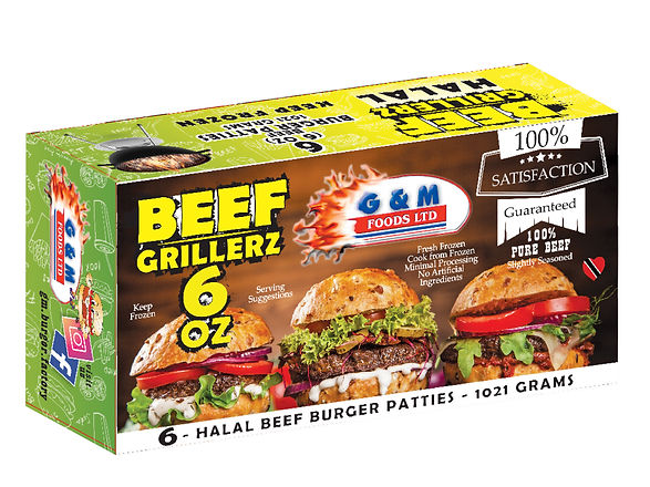 New Supermarket Product - 6 ounce Beef Burger Patties