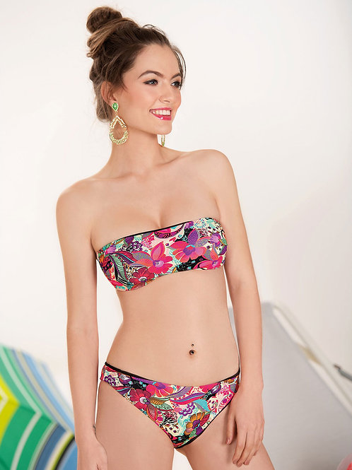 Bikini Fascia Fantasia Floreale Rosa