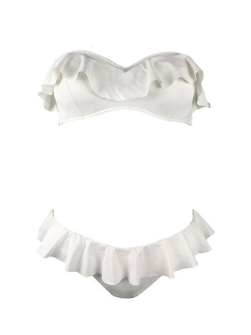 Bikini Fascia Voulant Bianco