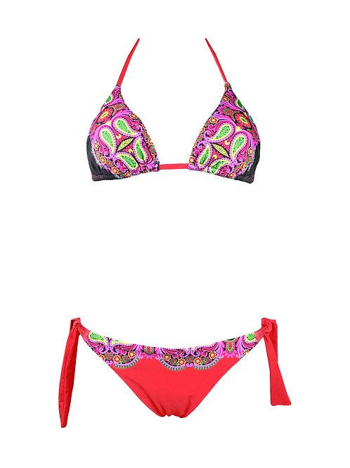 Bikini Triangolo Fantasia  Rosso