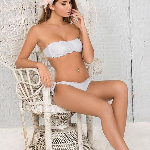 Bikini Fascia Lurex Fara Bianco