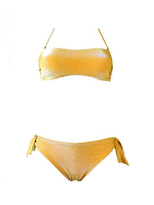 Bikini Fascia Lurex Giallo
