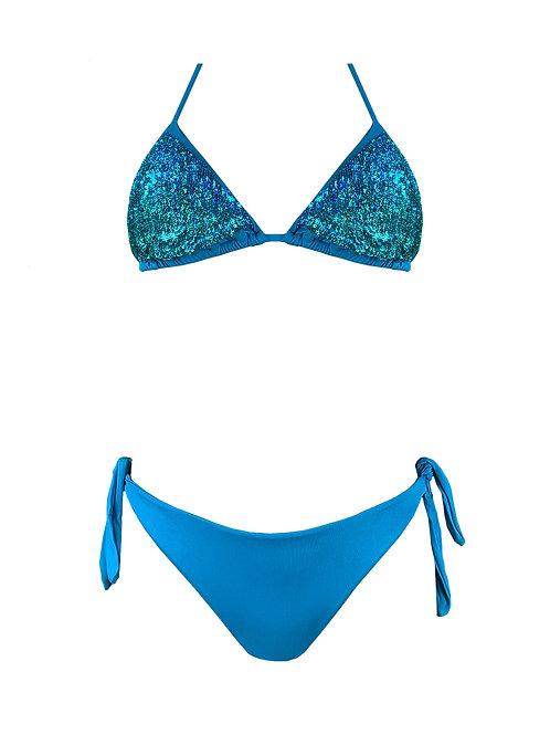 Bikini Triangolo Paillettes Fantasia Lu.na.tica