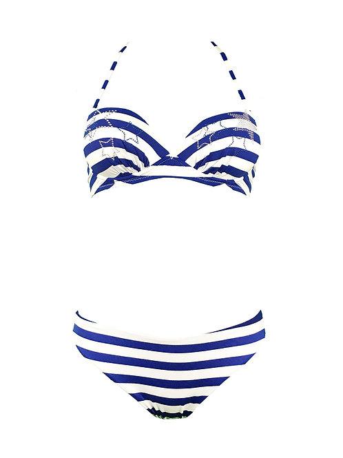 Bikini Coppa Righe Con Stelle