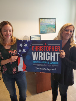 The team with Yard signs