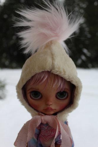 Powder pink pixie hat