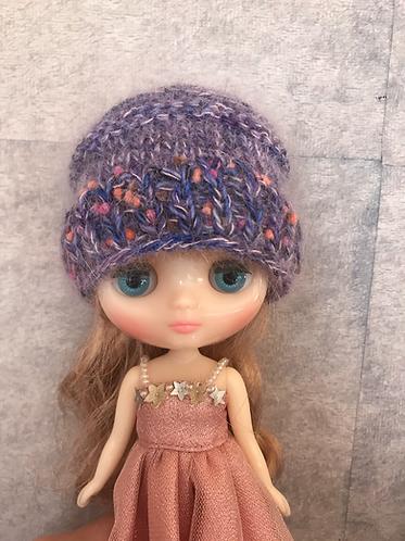 Middie knit purple hat