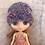 Thumbnail: Middie knit purple hat