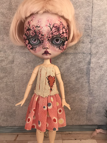 Stitched with love pink dress