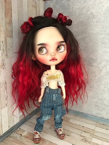 Blythe jeans, bleached/lightly distressed #2