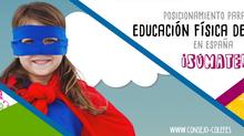 Posicionamiento del colectivo profesional del área de Educación Física