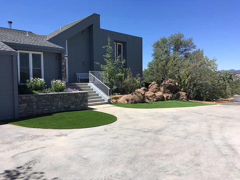 Front Driveway Turf and Landscape - Aspen Landcaping - Prescott Landscaping Company