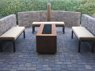 Pavers on the Patio with Fire Pit