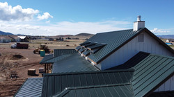 Prescott AZ Metal Roofing New Residential Home Aerial Footage From The Side