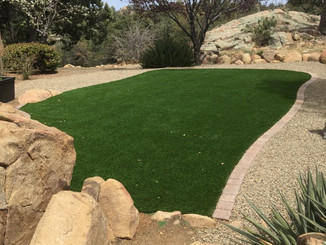 Artificial Turf and Rockscape