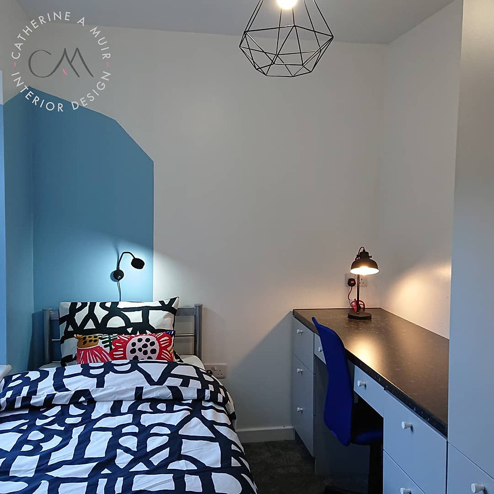 Student bedroom interior designed