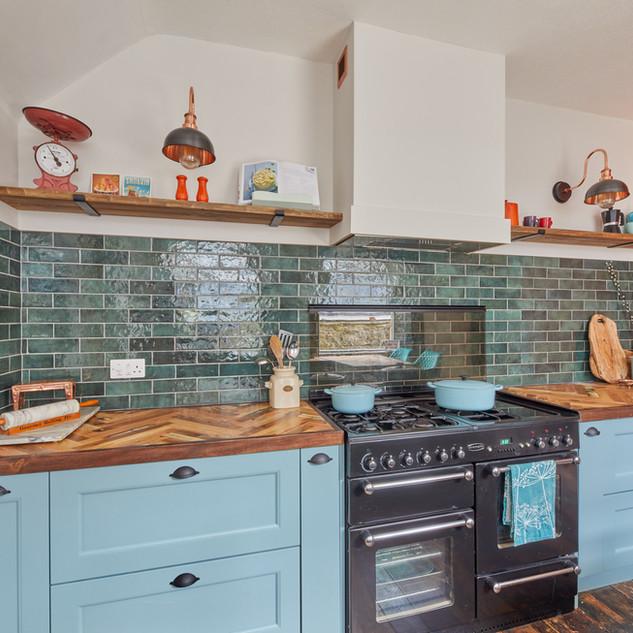 Blue Vintage Kitchen 3