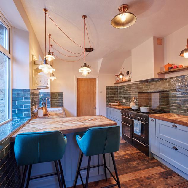 Blue Vintage Kitchen 2